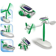 DIY 6 in 1 Children Educational Solar Robot Kits