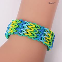 Eruner®Sweet Color Loom Bands Rubber Band Bracelet NO.8