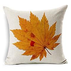 가을 잎면 / 린넨 장식 베개 커버