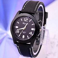 Men's Fashion Casual Silicone Quartz Round Case Sports Military Business Watches
