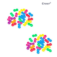BaoGuang®24PCS Colorful Rainbow Color Loom Hook