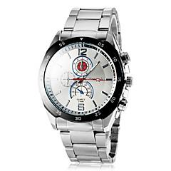 Men's Round Dial Alloy Band Quartz Wrist Watch (Assorted Colors)