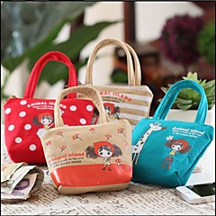 Cloth Art Handbag Shaped Change Purse Phone Purse(Random Color)