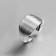 Personality Creative Simple Sterling Silver Party Bangle Ring For Women 2016