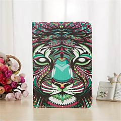 King of The Forest Series Pattern PU Leather Case with Stand and Card Slot for iPad Air
