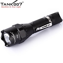 TANK007 PT40 Standard type Tactical 5-Mode 1xCREE XM-L U2 LED Flashlight (1000LM, 1x18650/2xCR123/2x16340 , Black)