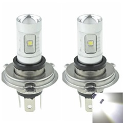 2x H4 P43T  30W 6xCREE Cold White 2100LM 6500K for Car Fog Light (AC/DC12V-24)