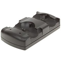 usb / base dock para ps3 mandos a distancia / doble control de movimiento de carga