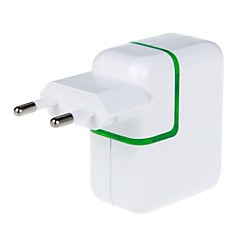 3100mah 2-port usb strømadapter / lader (110 ~ 240v / eu plugg)