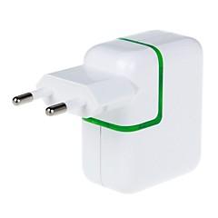 3100mAh 2-Port USB Power Adapter/Charger (110~240V/EU Plug)