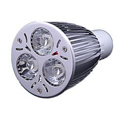 9W GU10 Lâmpadas de Foco de LED MR16 3 LED de Alta Potência 700-900 lm Branco Frio AC 220-240 V
