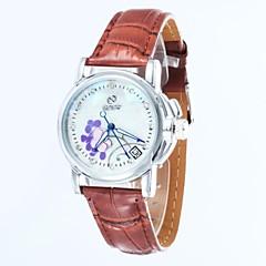 kvinners skjelett dial lærreim automatisk mekanisk klokke (assorterte farger)
