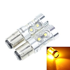 2x 1157 P21/5W Ba15d  50W 10xCREE Cold White 3100LM 6500K for Reversing lamp (AC/DC12V-24)