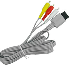 1.8M 5.904FT Wii 30Pin Male to 3RCA Male WII HD Video Audio TV Display Connection Cable for Wii