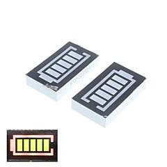 5 segmento batería indicador digital rojo y verde (2pcs)