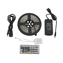 Z®ZDM Waterproof 5M 300x5050 SMD RGB LED Strip Light with 44-Button Remote Controller (100-240V)