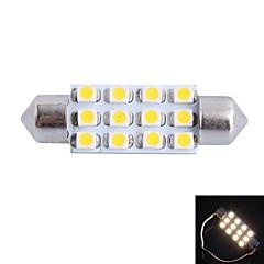 gc® 39mm 3w 150lm 3000k 12x3528smd blanc chaud LED pour voiture lecture / lampe / plaque de la lumière de la porte de licence (DC12V)