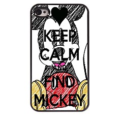 Keep Calm and Find Mickey Design Aluminum Case for iPhone 4/4S