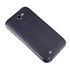 삼성 n7100에 대한 고전적인 단색 다시 실리콘 케이스 (블랙)