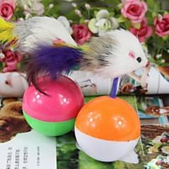 ciekawe myszy suszarka zabawki dla kotów (losowe kolory)