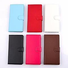 cubierta de la caja - Nokia Lumia 520 - Cuero PU - Fundas  Completas - Color Sólido -