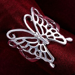 925 Silver Hollow Butterfly Statement Rings(1PC)