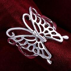Yüzükler Düğün / Parti / Günlük Mücevher Som Gümüş Kadın İfadeli Yüzükler 1pc,7 / 8 Gümüş