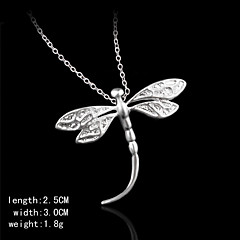 Silver Dragonfly Shape Pendents Women's Pendents