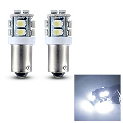 merdia BA9S 0.4W 28lm 10x3528smd led wit licht leeslamp / kentekenplaatverlichting / zijlicht (12v / pair)