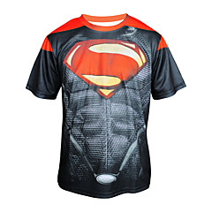 Arsuxeo  Quick Drying Short Sleeve Cycling MTB Trail Jersey Superman T shirt