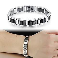 Black Gallstone Anti-fatigue Stainless Steel Men's Bracelet with Personality
