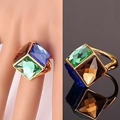 Anéis Casamento / Pesta / Diário / Casual / Esportes Jóias Cristal / Liga / Chapeado Dourado Feminino Anéis Statement 1pç Dourado