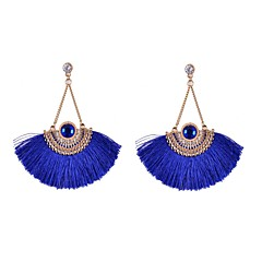 Drop Earrings Alloy Rhinestone Fabric Simulated Diamond Black Orange Blue Jewelry Wedding Party Daily Casual Sports 2pcs