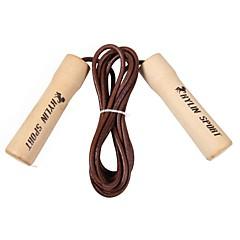 KYLIN SPORT™ Premium Cowhide Rope Skipping with Solid Wood Handles