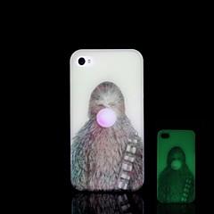 iPhone 4/4S - Takakuori - Kuvitettu/Erikoiskuvio/Pimeässä hohtava Muovi )