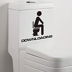 Multifunction PVC Decorative Toilet Stickers
