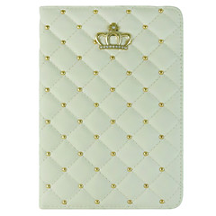 Crown Round Dots/Solid Color PU Leather Smart Covers/Folio Cases for iPad 2/iPad 3/ iPad 4 (Assorted Colors)