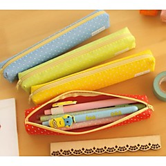 Candy Color Long Wave Point Pen Bag