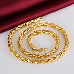 Cool Have Personality Quality 18 K Plating Never Become Angry Man Gold Necklace