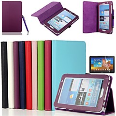 Samsung Tab 2 7.0 (P3100/P3110) compatible Solid Color PU Leather Full Body Cases/Cases with Stand(Assorted Color)