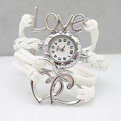 Mulheres Relógio de Moda Quartz PU Banda Boêmio Branco marca-