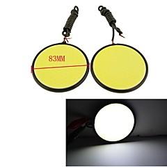 Carking™ Aluminum COB LED 7W White DRL Driving Daytime Running Light Lamp(2PCS))