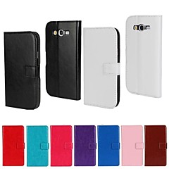 στερεό χρώμα PU δερμάτινο πορτοφόλι γεμάτο σώμα προστατευτική θήκη με βάση για το Samsung Galaxy grand νεο i9060