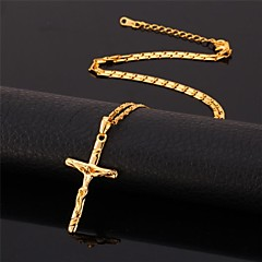 U7® Crucifix 18K Real Gold Plated Saint Cross Jesus Choker Necklace Pendant  Jewelry