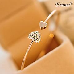 Eruner® Fashion Zircon Heart love Pattern Openning Bracelet