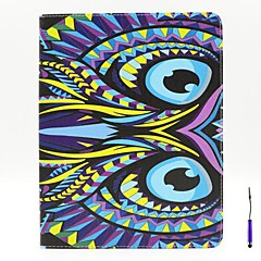 Beautiful Owl Pattern PU Leather Case Cover with A Touch Pen ,Stand and Card Holder for iPad 1/2/3/4