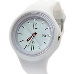 Women's Ladies Round Silicone Watchband Quartz  Watch (Assorted Colors)