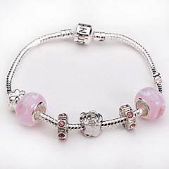 Women jewelry 925 Sterling Silver bracelet color Murano Glass Crystal European Beads Strand Beads bracelets BLH030