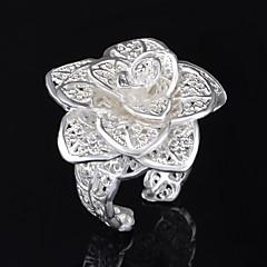 Xu™ Women's Flower 925 Silver Plated Diamond Ring