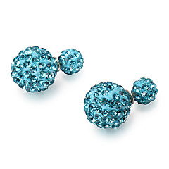 Fashion Crystal Multicolor Ceramic Stud Earrings(More Color)(1 Pair)